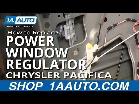 How to Replace Front Power Window Regulator 04-06 Chrysler Pacifica
