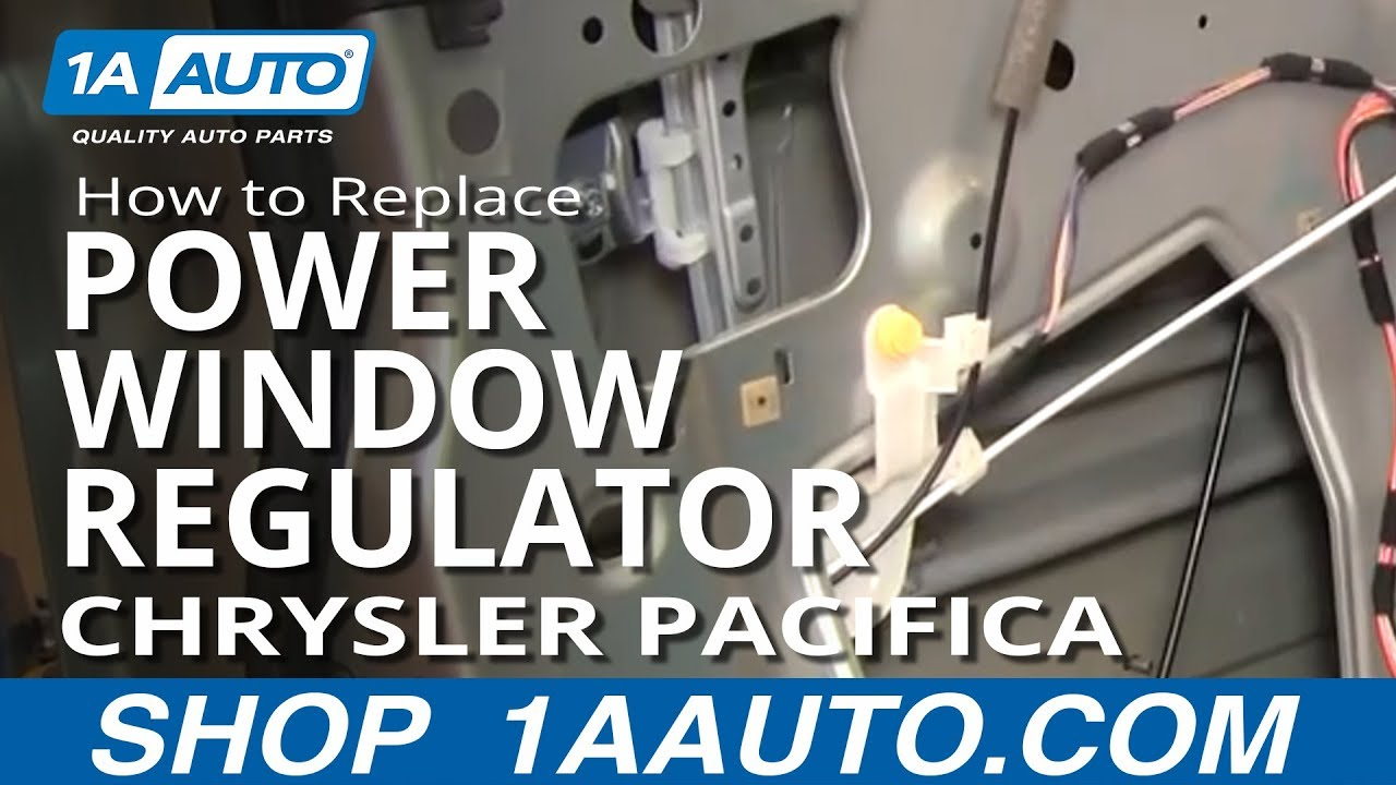 How to install replace power window regulator chrysler for 04 pacifica window regulator