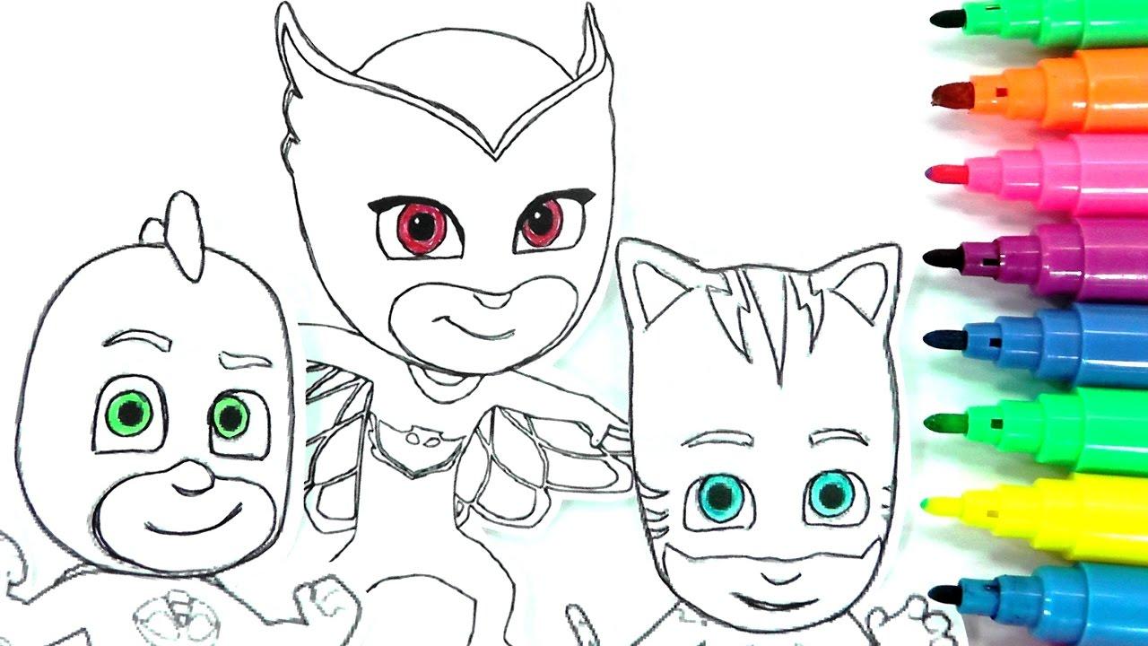 Rotuladores Magicos De Los Pj Masks O Heroes En Pijamas Con