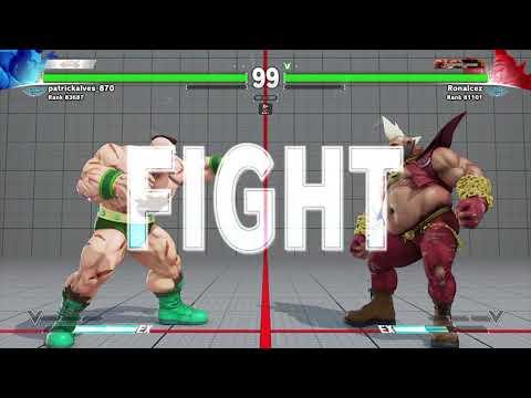 Street Fighter V Ranked Matches - Zangief vs Birdie (Perfect KO)