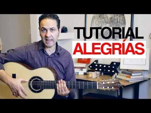 CÓMO TOCAR ALEGRÍAS MUY FÁCIL EN GUITARRA FLAMENCA (Jeronimo de Carmen Tutorial)
