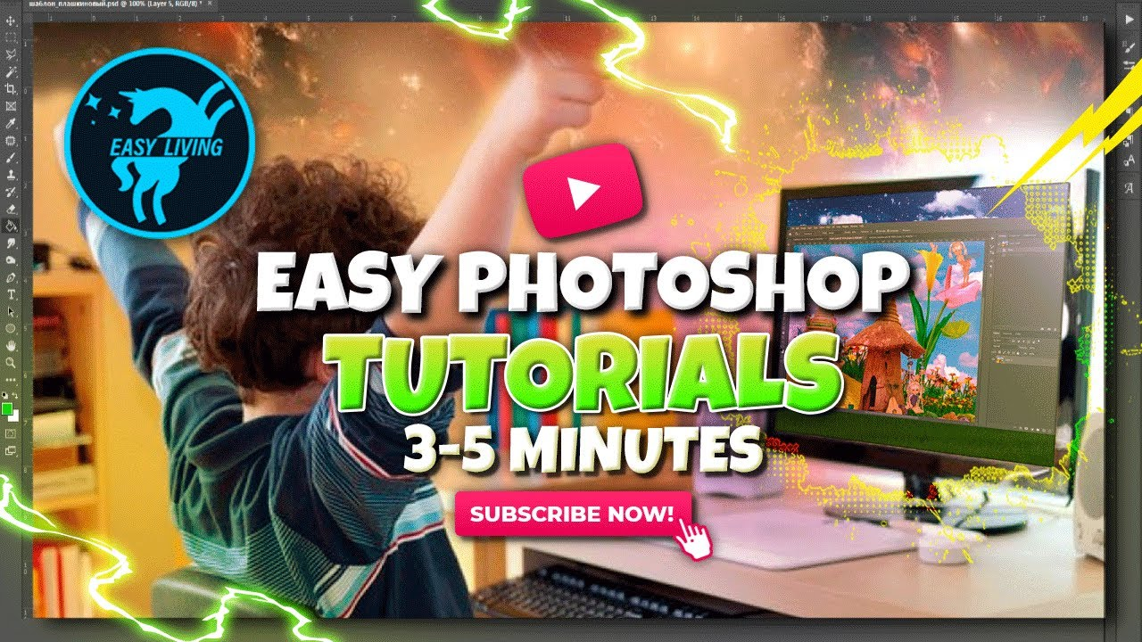 Download PHOTOSHOP TUTORIALS FOR BEGINNERS: Easy lessons 3-5 minutes, free download mockups.