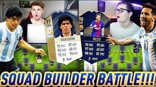 FIFA 18: PRIME ICON MARADONA 97 vs TOTY MESSI SQUAD BUILDER BATTLE
