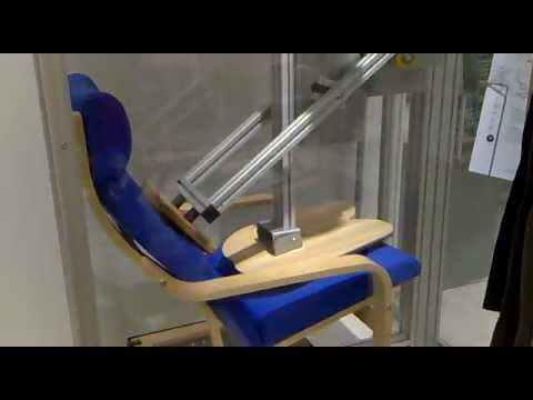 ikea chair testing machine youtube. Black Bedroom Furniture Sets. Home Design Ideas