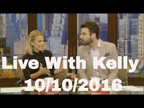 Live With Kelly  10/10/2016  co-host Zachary Quinto Jeffrey, Dean Morgan,Jennifer Morrison...