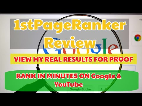 1st Page Ranker Review | Bonuses | [REAL PROOF] | Rank Number 1 Quickly thumbnail