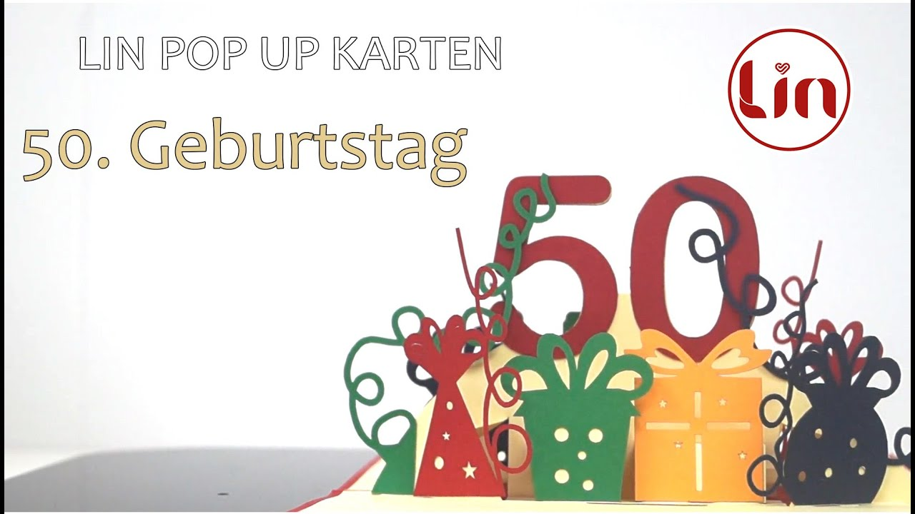 pop up karte zum geburtstag 50 geburtstag youtube. Black Bedroom Furniture Sets. Home Design Ideas