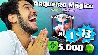 OS DEUSES DO CLASH ROYALE ME DERAM O ARQUEIRO MÁGICO!! NÍVEL 1 AO NÍVEL 13 #6