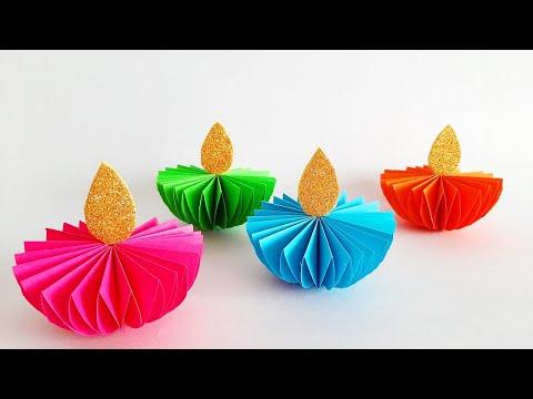 DIY Paper Diya | Paper Diya Decoration for Diwali | Diya With Paper