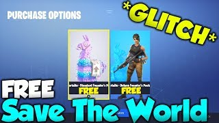 NEW Fortnite Save The World FREE GLITCH! - Fortnite Save The World for FREE! (Earn V-Bucks EASY)