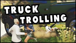 GTA Online: Funny Moments - TRUCK TROLLING! (GTA 5 PC Gameplay Montage)
