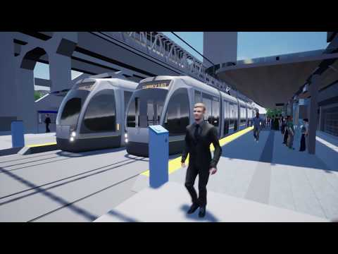 Surrey-Newton-Guildford Light Rail Transit –  Corridor Simulation