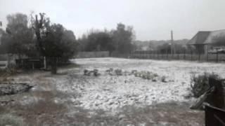 Умёт, Тамбовская область, 11.10.2015, А снег идёт...