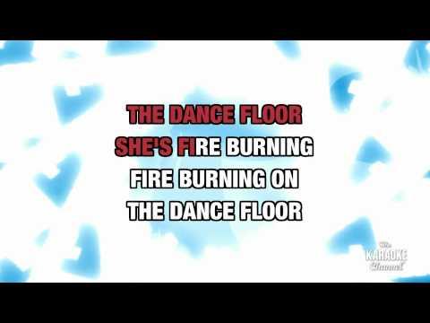 "Fire Burning in the style of ""Sean Kingston"" karaoke video with lyrics"