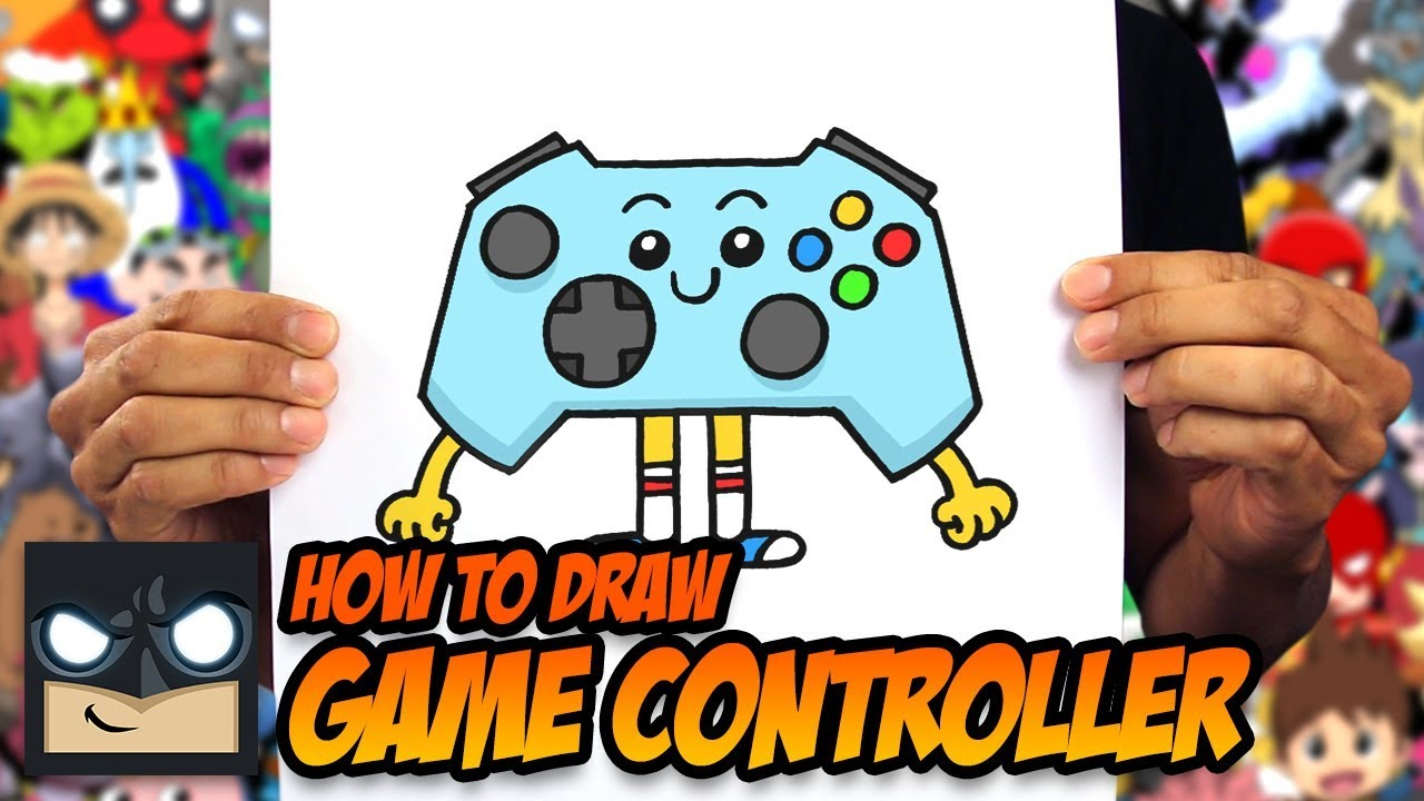 HOW TO DRAW GAME CONTROLLER   STEP BY STEP TUTORIAL #1