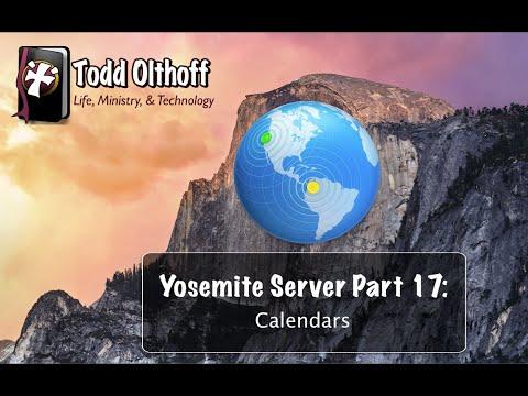 Yosemite Server Part 17: Calendars