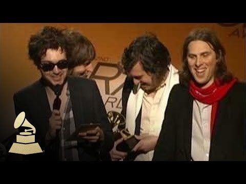 Phoenix accepting the Best Alternative Album GRAMMY at the 52nd GRAMMY Awards Pre-Telecast | GRAMMYs