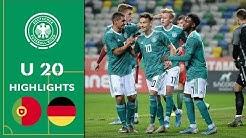 Kühn & Ludewig sichern den Sieg | Portugal - Deutschland 0:2 | Highlights | U 20 Länderspiel