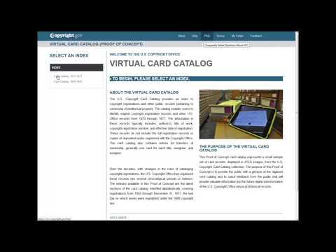 Virtual Card Catalog: Demonstration (2018)
