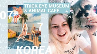 [KOREA VLOG 07] Trick Eye Museum 👀 +  Animal Café 🐒( in Hongdae )