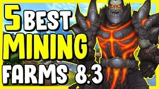 5 Best Mining Farms In WoW BFA 8.3 - Gold Making, Gold Farming Guide
