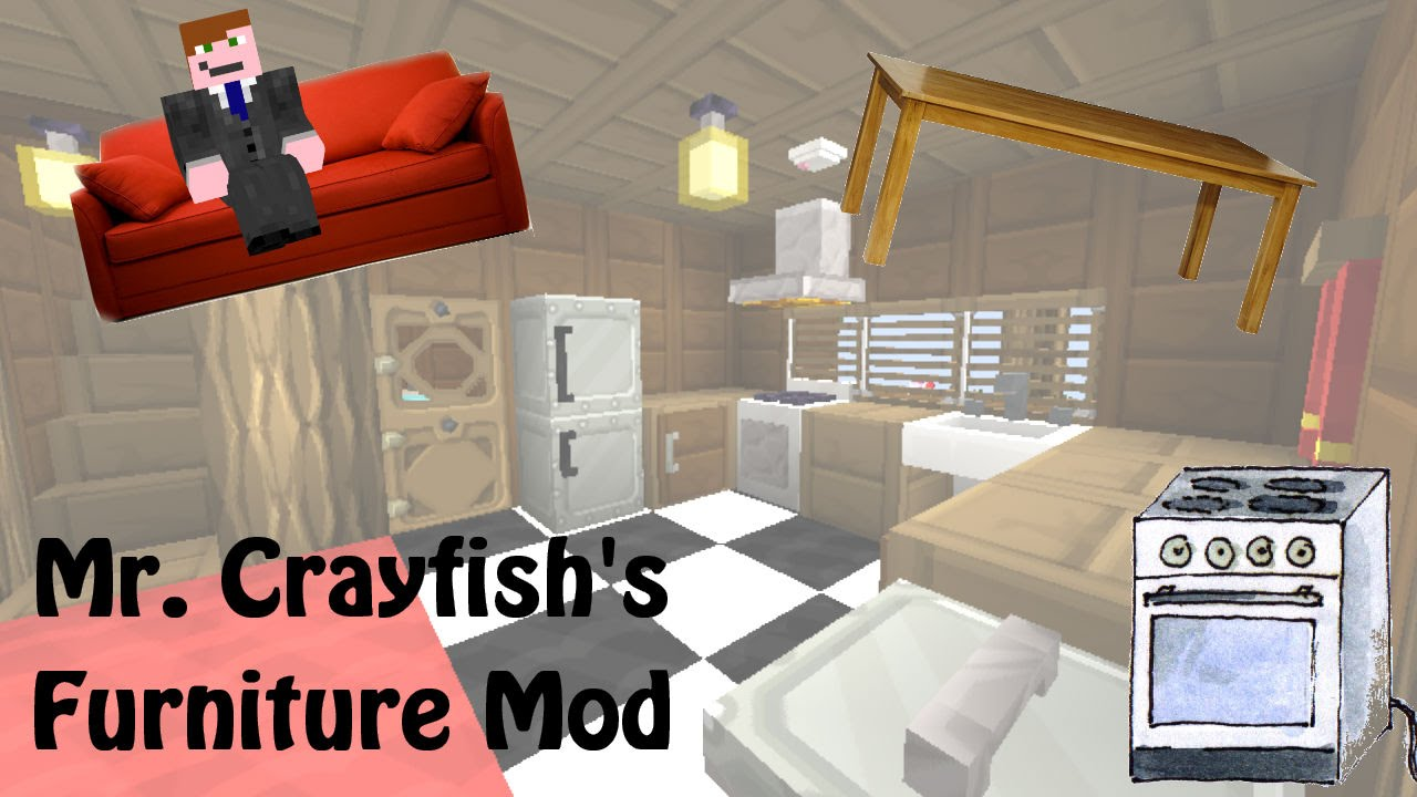 Minecraft Mod Review Mr Crayfishs Furniture Mod GermanDeutsch - Minecraft moderne hauser lekoopa