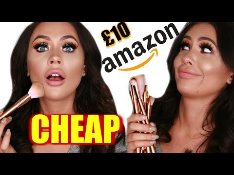 TESTING CHEAP AMAZON MAKEUP BRUSHES FULL FACE | HIT OR MISS