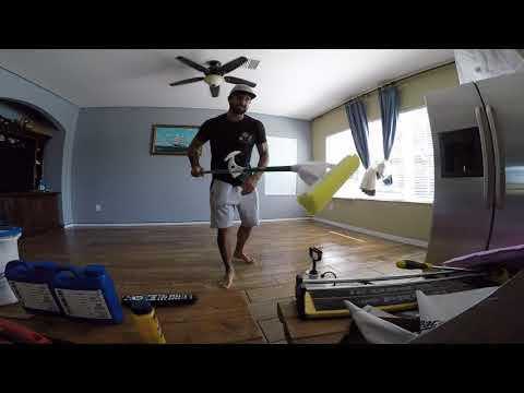 Cleaning grout haze off tile floor Part 1