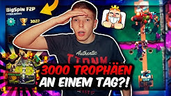VON 0 AUF 3000 TROPHÄEN AN 1 TAG?! | NEUES FREE 2 PLAY PROJEKT MIT TRYMACS! | Clash Royale Deutsch