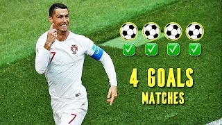 When FAMOUS Football Players Score FOUR Goals in One Match