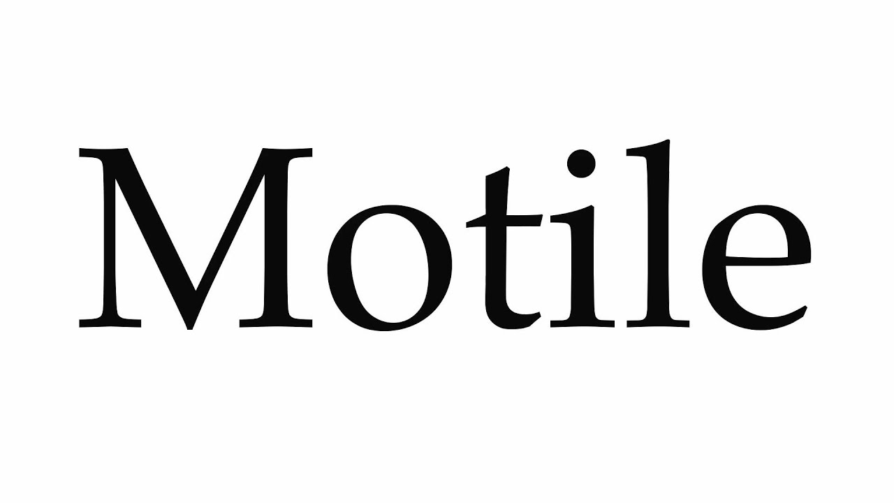 How to Pronounce Motile