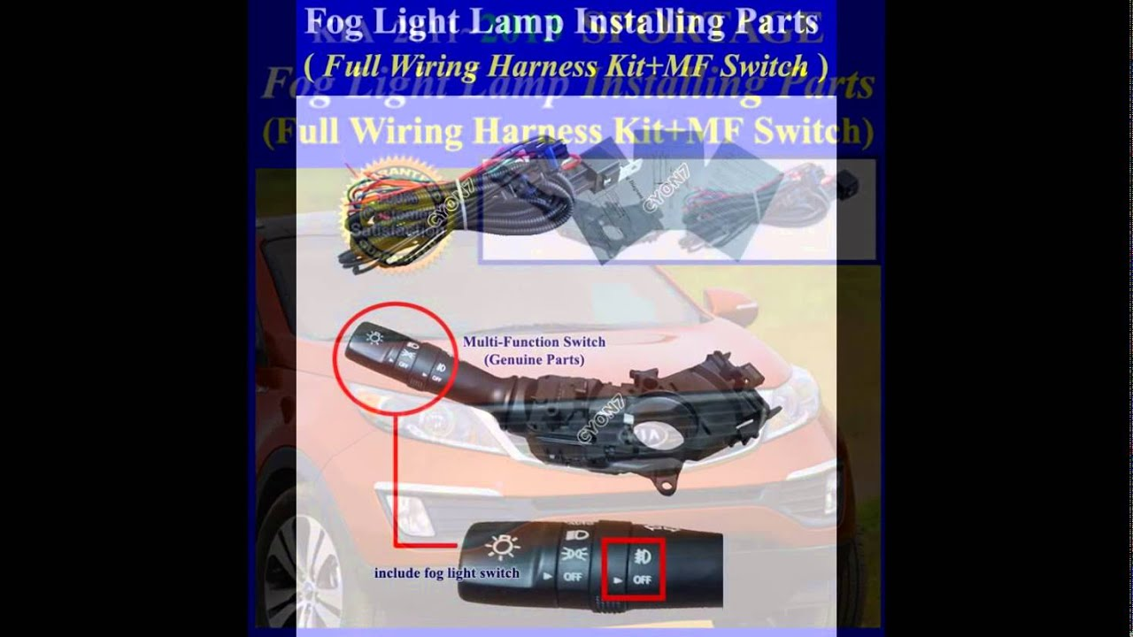 maxresdefault fog light lamp installing parts, full wiring harness kit for 2011 2013 kia sorento headlight wiring harness at gsmportal.co