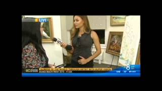 Concetta Antico Tetrachromat Art on KFMB TV