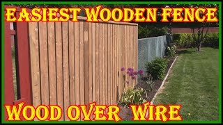 HOW TO BUILD A WOODEN FENCE OVER A WIRE FENCE - CHECK DESCRIPTION ON HOW TO MAKE BRACKETS