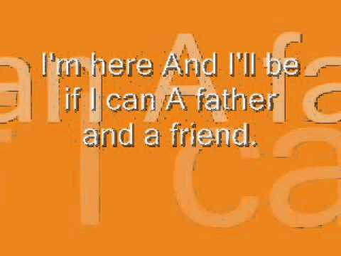 Karaoke Father And A Friend - Video with Lyrics - Alain Clark