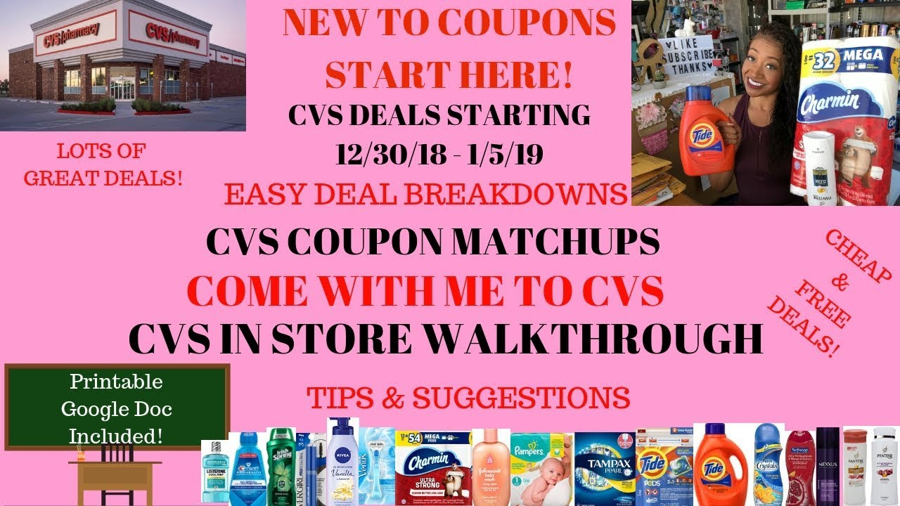 image relating to Cvs Coupons Printable titled CVS Coupon Offers Starting off 12/30/18~Contemporary Couponer Uncomplicated DealsCoupon Matchups Package deal BreakdownsFreeEasy