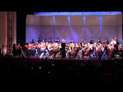 300 Violin Orchestra performed  UPrep Stings and Drum Corps May 14, 2015