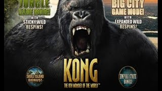 Kong the 8th Wonder of the World slot | ALL FEATURES + BIG WIN | Playtech