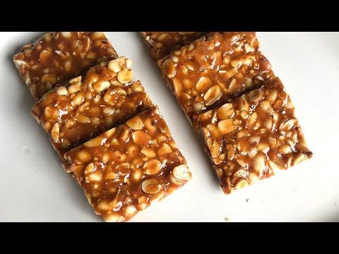 Homemade peanut chikki recipe moongphali chikki recipe healthy kids recipes verusanga achhu
