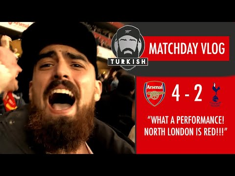 Arsenal 4-2 Tottenham | Matchday Vlog | North London is RED!!!