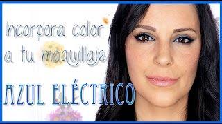 Tutorial maquillaje azul eléctrico fácil |  Silvia Quiros Makeup