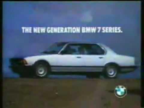 Advert BMW 7 series 80\'s \