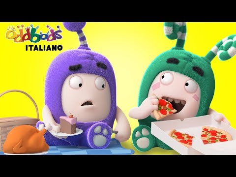 Oddbods | Cenare bene vs Pizza | Cartoni animati divertenti per bimbi