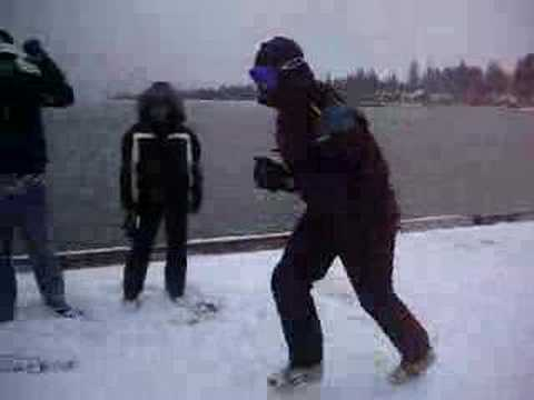 Justin Snow Slidding