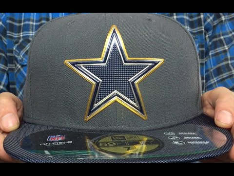 new styles e4cc9 4f57c Cowboys  2015 NFL GOLD COLLECTION  Grey-Navy Fitted Hat by New Era
