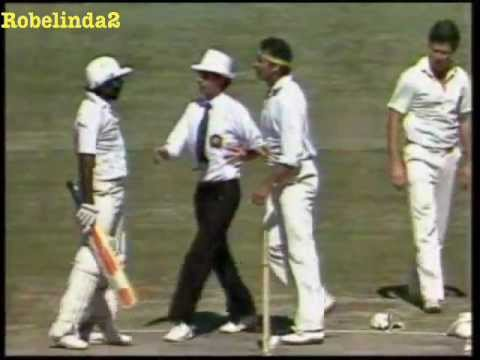 Cricket's first ever fight- RACIST AUSSIES AGAIN- RARE FULL FOOTAGE- Miandad vs Lillee