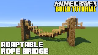 Minecraft: How To Build A Hanging Rope Bridge Tutorial (Simple, Easy & Adaptable)