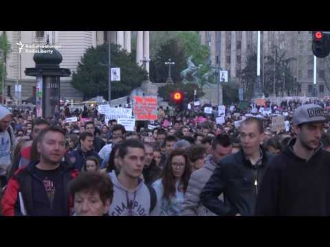 Thousands Protest Vucic Victory In Serbia