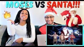 "Epic Rap Battles of History ""Moses vs Santa Claus"" REACTION!!!!"