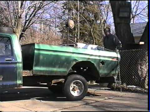 Removing Rusted Ford F  Ft Truck Box Part